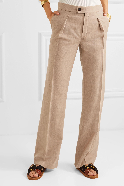 Chloé Stretch-wool straight-leg pants
