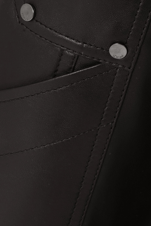 Chloé 铆钉皮革直筒裤