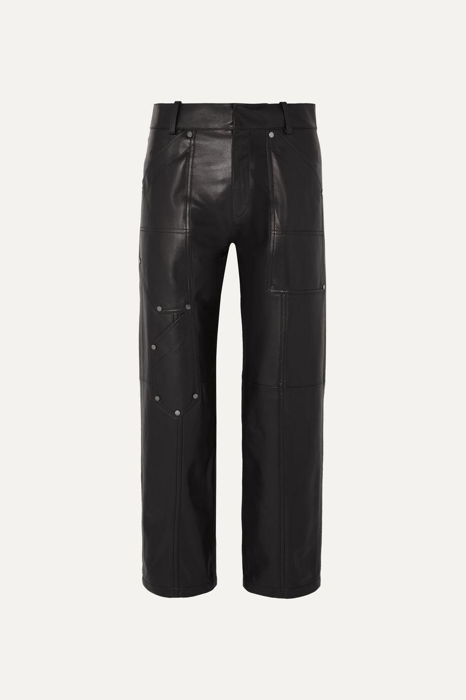 Chloé Studded leather straight-leg pants