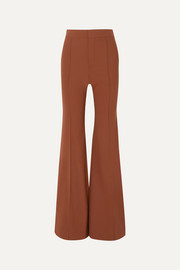 Chloé Grain de poudre stretch-wool flared pants