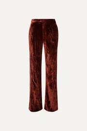 Chloé Crushed-velvet pants
