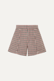 Checked wool-blend shorts
