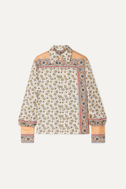 Chloé Printed silk-satin shirt