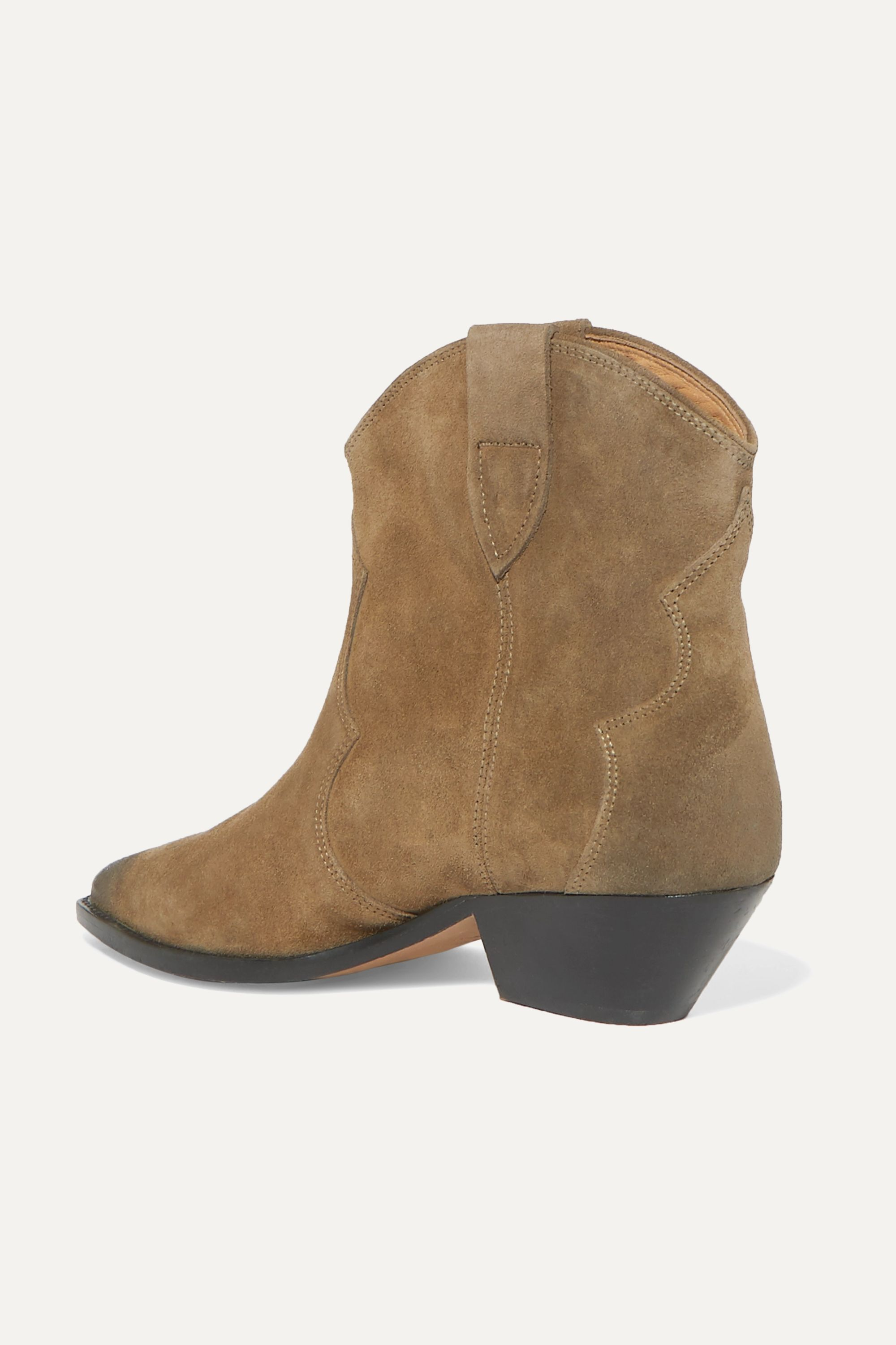 Isabel Marant Dewina distressed suede ankle boots