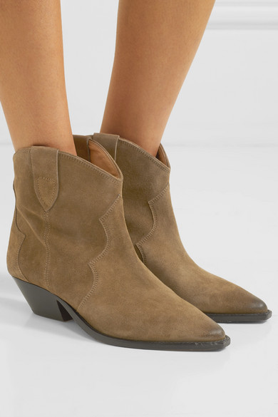 b4112fbf29b Isabel Marant | Dewina distressed suede ankle boots | NET-A-PORTER.COM