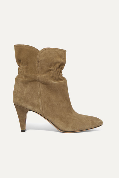 Isabel Marant Dedie Suede Ankle Boots In Taupe