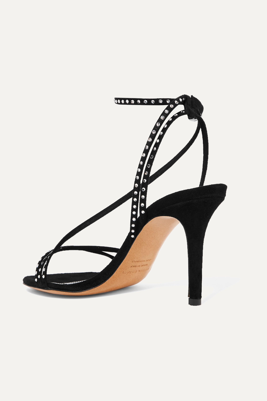 Isabel Marant Athist crystal-embellished suede sandals