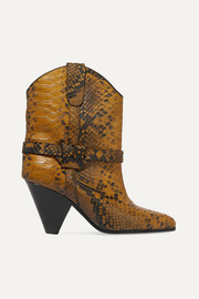Isabel Marant Deane snake-effect leather ankle boots
