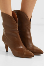 Dythey leather ankle boots