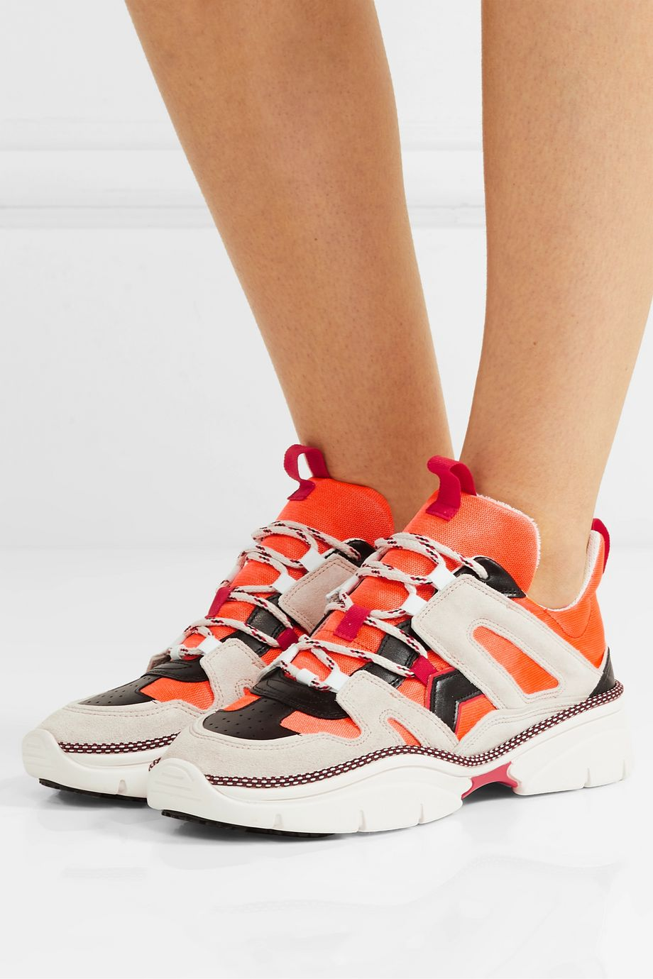 Isabel Marant Kindsay suede, leather and mesh sneakers