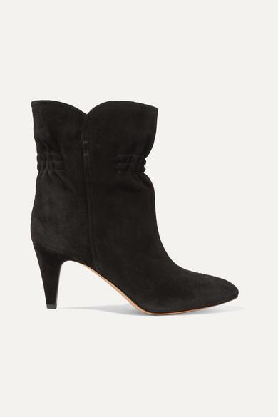 Isabel Marant Dedie Suede Ankle Boots In Black