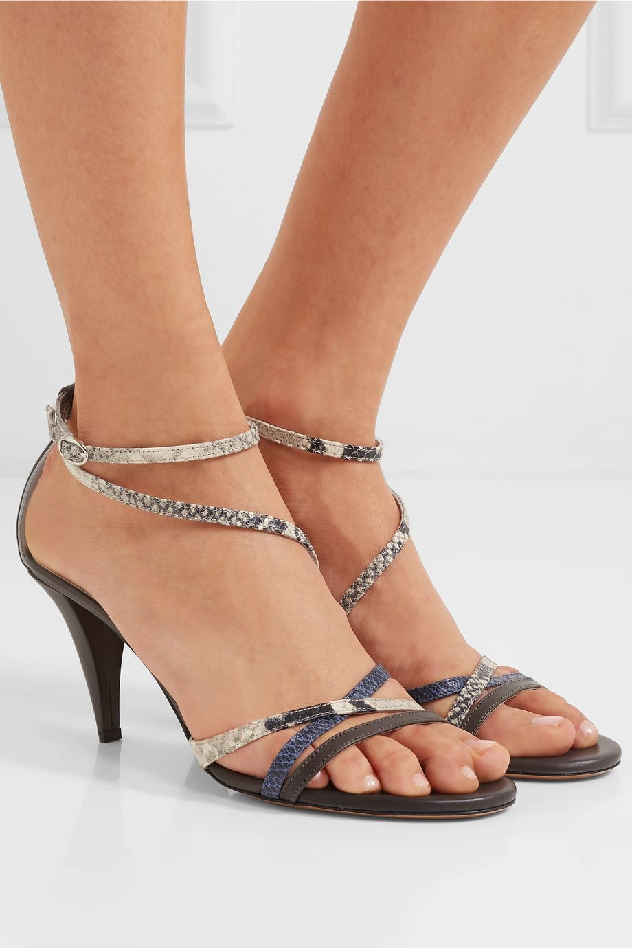 Isabel Marant Afka snake-effect leather sandals