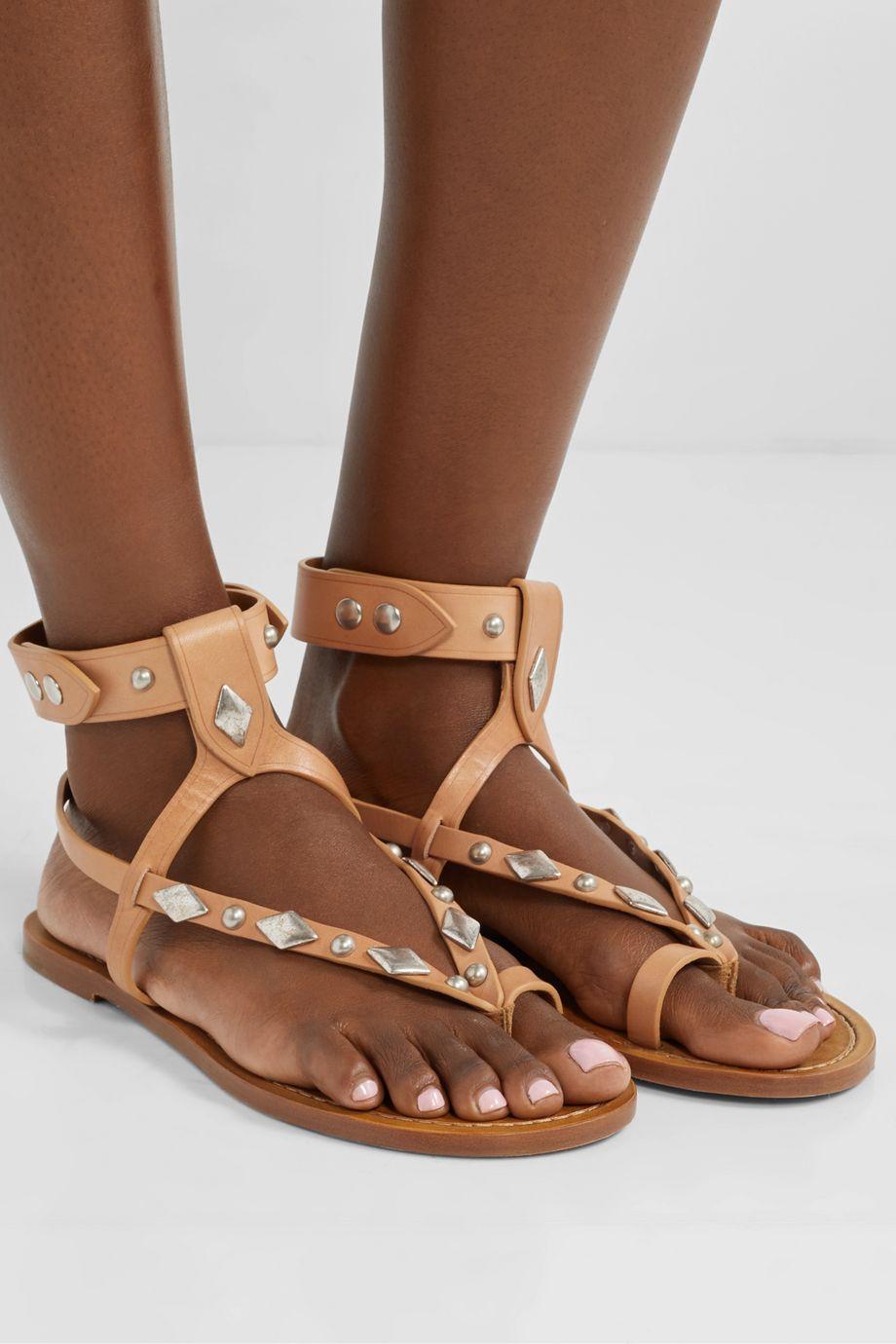 Isabel Marant Enga studded leather sandals