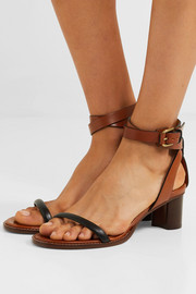 Jadler two-tone leather sandals