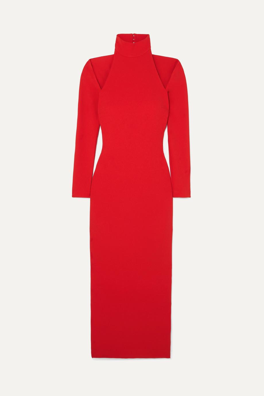 Solace London | Grayson cutout stretch-crepe midi dress | NET-A-PORTER.COM