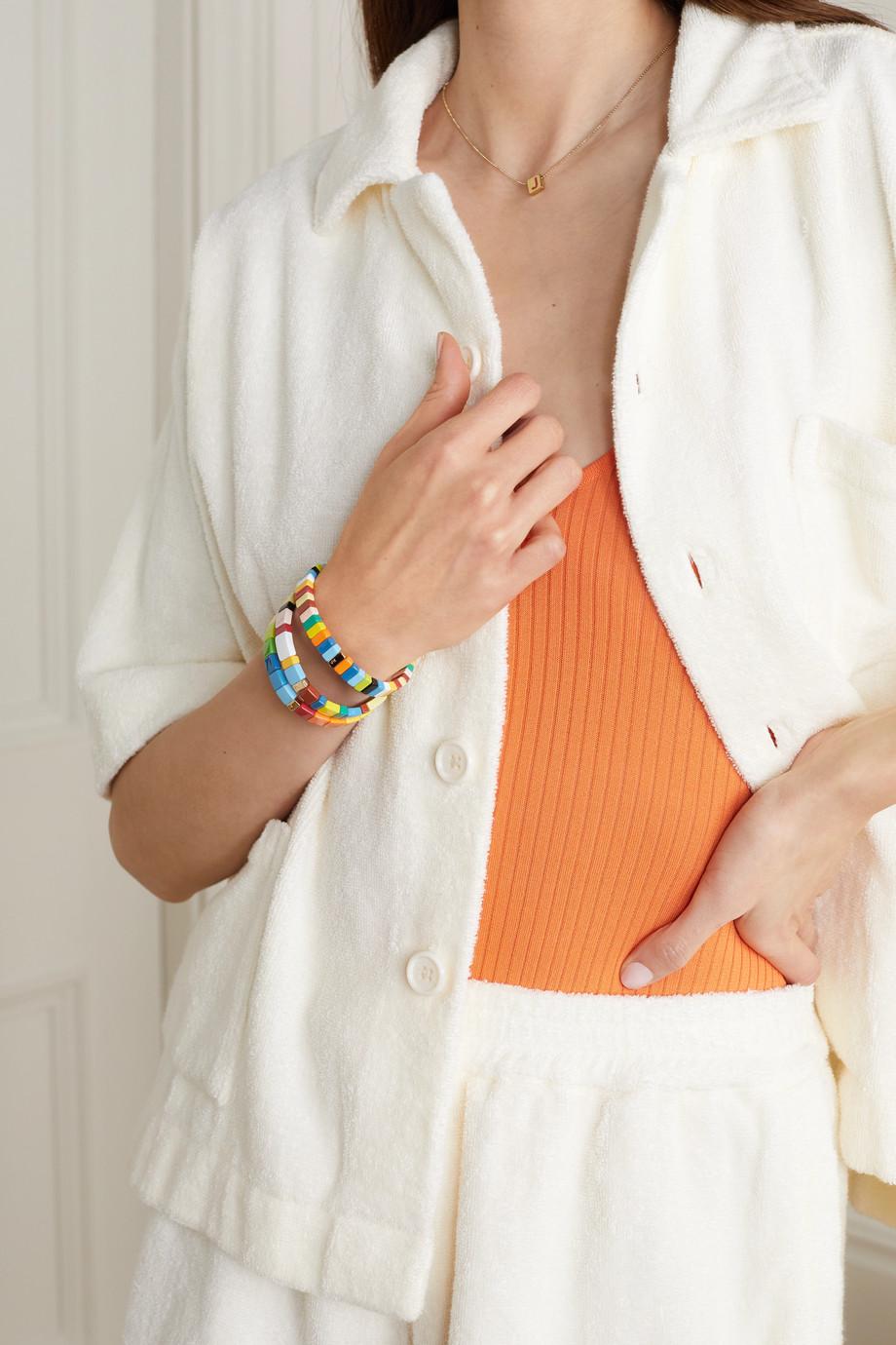 Roxanne Assoulin Rainbow Brite Set aus drei Armbändern mit Emaille