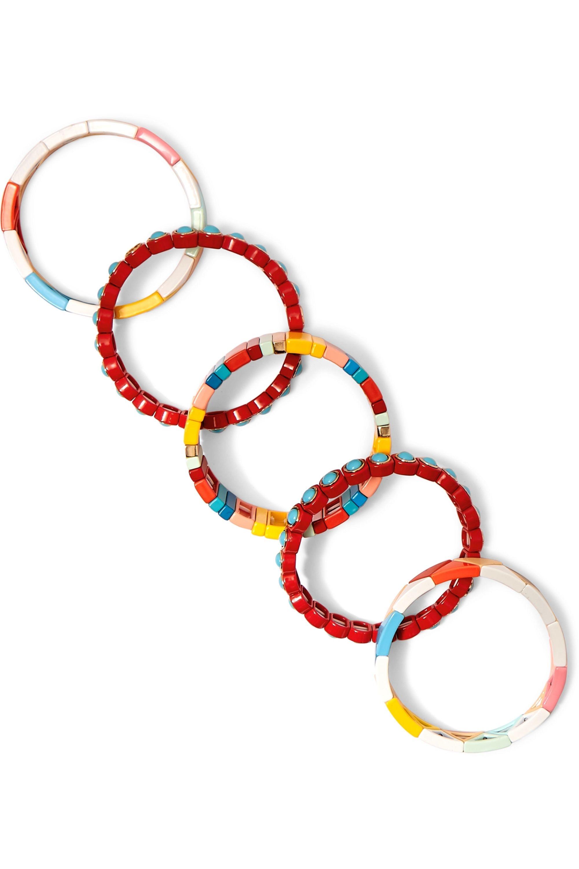 Roxanne Assoulin Cinque Terre 搪瓷手链(五只装)