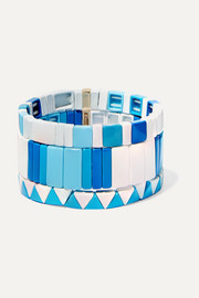 Roxanne Assoulin Mykonos set of three enamel bracelets