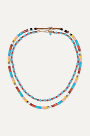 Roxanne Assoulin Cinque Terre set of two enamel and gold-tone necklaces