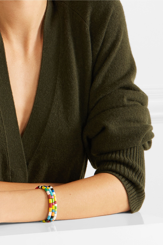 Roxanne Assoulin Rainbow set of three enamel and gold-tone bracelets