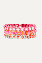 Roxanne Assoulin Mini Me set of three neon enamel and Swarovski crystal bracelets