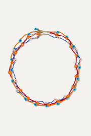 Roxanne Assoulin Daisy set of three gold-tone beaded necklaces