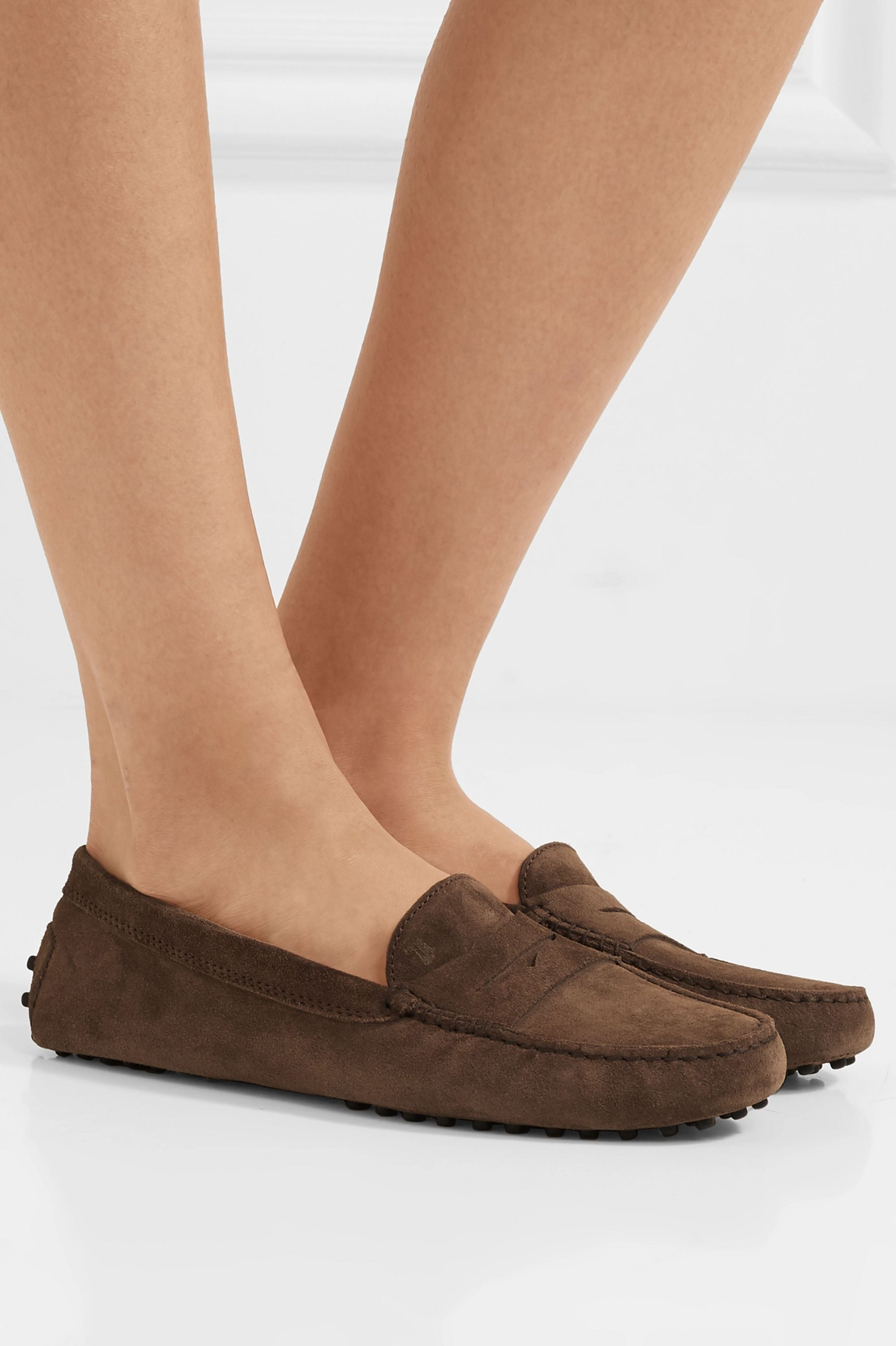 Brown Gommino suede loafers   Tod's
