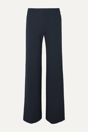 Striped stretch-cady wide-leg pants