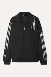 adidas Originals + Daniëlle Cathari Firebird paneled striped tech-jersey track jacket