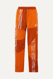 adidas Originals + Daniëlle Cathari striped paneled satin-jersey track pants
