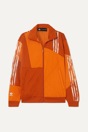adidas Originals + Daniëlle Cathari striped paneled satin-jersey track jacket