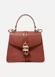 Aby small textured-leather tote