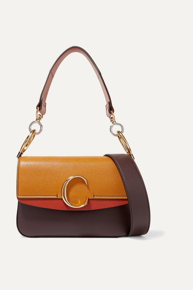 Chloé C Small Color Block Leather Shoulder Bag by Chloé