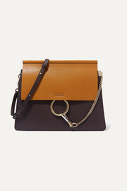 Chloé Faye medium two-tone leather shoulder bag