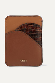 Color-block leather cardholder