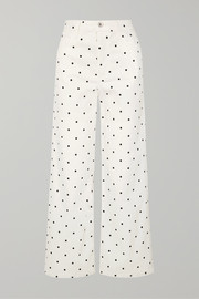 EVE Denim Charlotte polka-dot high-rise wide-leg jeans