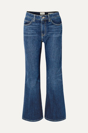 EVE Denim Jacqueline cropped high-rise flared jeans