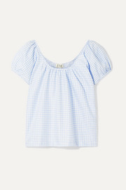 EVE Denim Camille gingham cotton-voile top