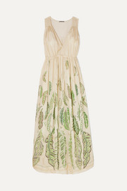 Three Graces London + Zhandra Rhodes Solaine printed cotton-voile maxi dress
