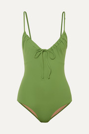 Three Graces London Cleo ruched swimsuit