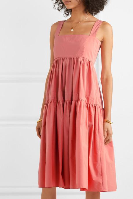Cosette tiered cotton-poplin midi dress