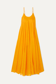Three Graces London Mabelle pleated ramie maxi dress