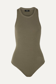 Bergen ribbed stretch-modal jersey thong bodysuit