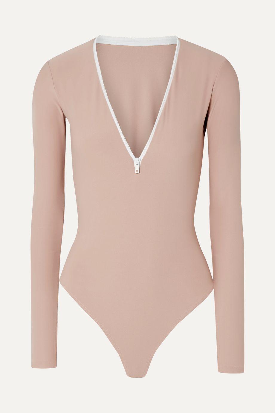 Alix NYC Spruce stretch-jersey thong bodysuit