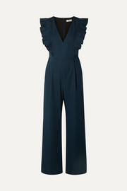SEA Stevie ruffled cotton-blend jumpsuit