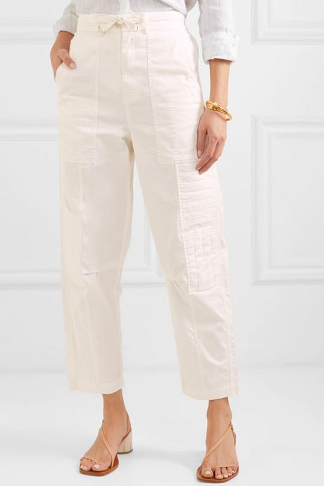 Tula cotton-blend twill pants