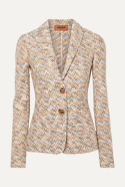 Missoni Crochet-knit wool blazer
