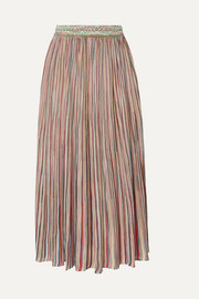 Missoni Pleated crochet-knit midi skirt