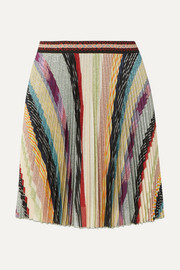 Missoni Metallic striped crochet-knit mini skirt