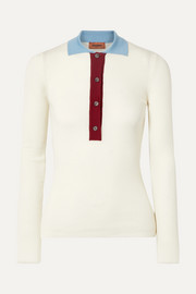 Missoni Ribbed wool polo shirt
